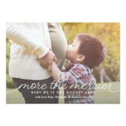 More The Merrier Pregnancy Announcement Card