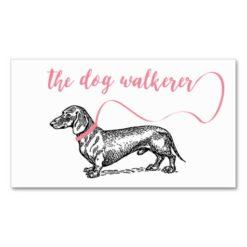 The Dog Walkerer Business | Dog Lover Pink Business Card