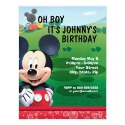 Disney mickey mouse birthday invitation