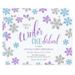 1st Birthday-Winter One-derland Card