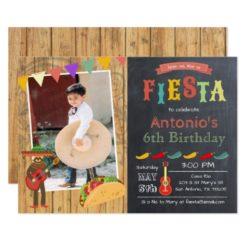 ANY AGE - Fiesta Rustic Chalk Birthday Invitation