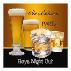 Bachelor Party Drinks Beer Boys Night Out