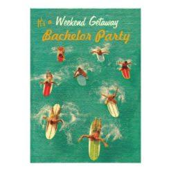 Bachelor Weekend Getaway Party Invitations