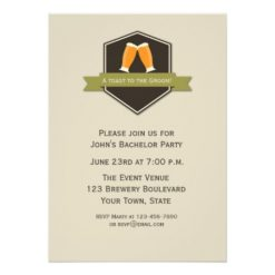 Beer Toast Bachelor Party Card