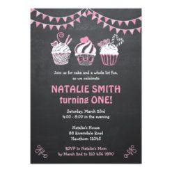 Cupcake Invitation / Chalkboard Cupcake invitation