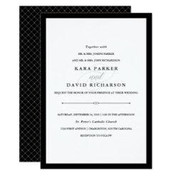 Elegant Couture | Black and White Wedding Invitation Card