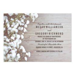 Floral- Baby's Breath Rustic Summer Simple Wedding Invitation Card
