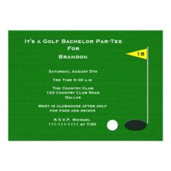 Golf Bachelor Party 18th Golf Hole Card