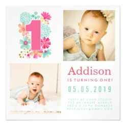  MAGNET  Babies Number 1 1st Birthday Photo Card