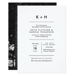Minimalist Photo Wedding Invitation Card