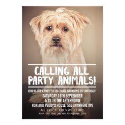 PET DOG'S PARTY PHOTO INVITE