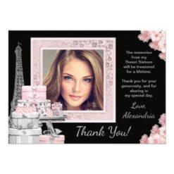 Paris Sweet 16 Thank You Cards