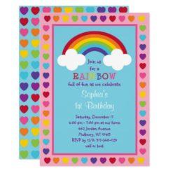 Rainbow 1st Birthday Card