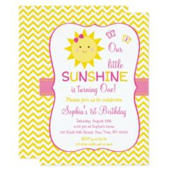 Sunshine 1st Birthday Card