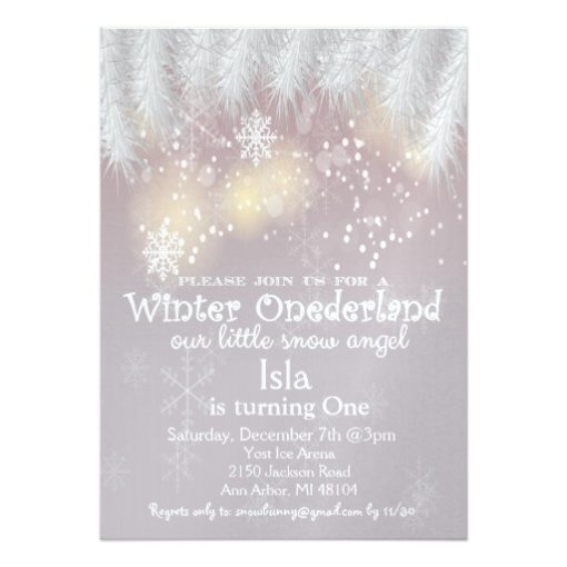 Winter Wonderland 1st Birthday Invitation