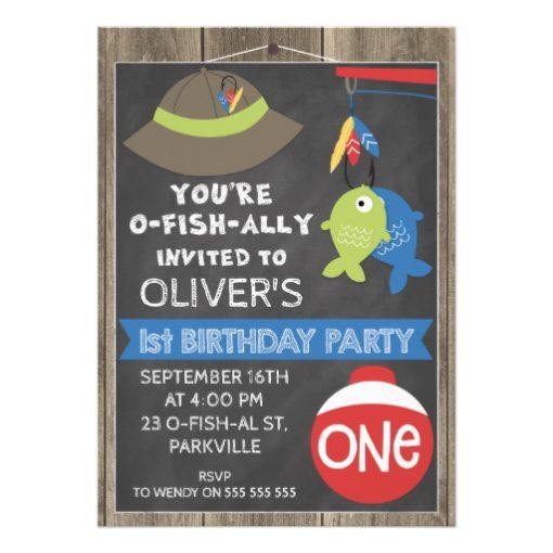 o-fish-ally Invited 1st Birthday Party Invitation