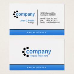 Blue Gradient Bottom Simple Modern Professional Business Card