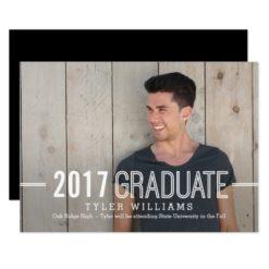 Bold Timeless Graduation Announcement Invitation