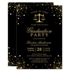 Class of 2018 Law School Graduate Graduation Party Card