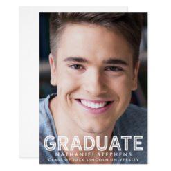 Masculine Graduation Photo Announcement