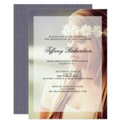Modern Graduation Party | Overlay with Photo Card