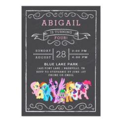 My Little Pony | Chalkboard Birthday Card