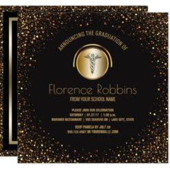 Nursing Graduation Party | Gold Pinning Ceremony Card