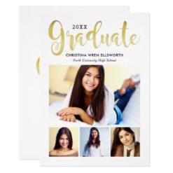 Photo Graduation Announcement | Gold Graduate