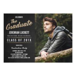 Photo Graduation Party Invitation | Chalkboard