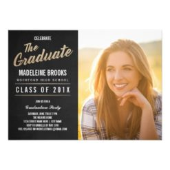 Photo Graduation Party Invitation   Chalkboard