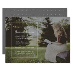 Simply Elegant Graduation Party Photo Card